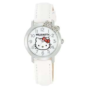 Hello Kitty Crystal Ribbon Watch (White)  Toys & Games