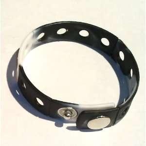 Black and White Rubber Bracelet Wristband for Shoe Jibbitz