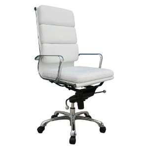Furniture Plush White High Back Office Chair plush wh chair Furniture