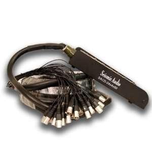 XLR Pro Audio Stage/Studio Snake Cable w/ Disconnect Box   50 Feet