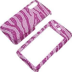 Samsung Behold T919, Hot Pink Zebra Stripes Full Diamond Electronics