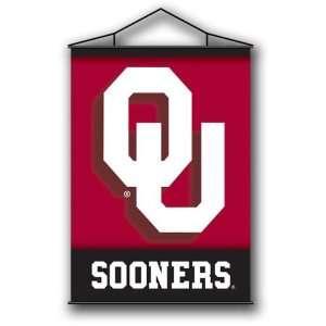 Oklahoma Sooners OU NCAA Indoor Banner Flag Scroll