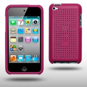 IPOD TOUCH 4 HARD MESH CASE BY CELLAPOD CASES HOT PINK