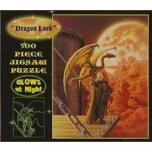 : Dragon Lord Glows in the Dark 500 Pcs Jigsaw Puzzle: Toys & Games