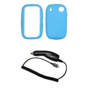 Premium Light Blue Soft Silicone Gel Skin Cover Case + Rapid Car