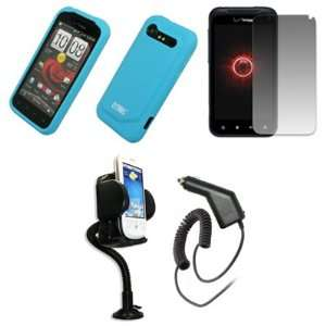 EMPIRE Light Blue Silicone Skin Case Cover + 360 Degree