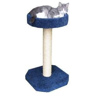 Cat Scratching Post   With Loft Bed   Navy Blue (Navy Blue