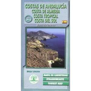 Mapa costas de Andalucía 1/390.000  costa de Andalucía