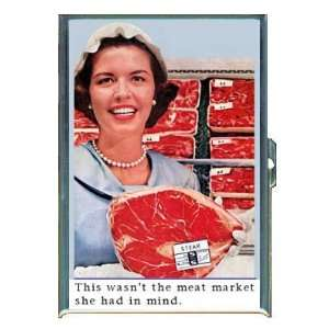 Meat Market Woman Retro Fun, ID Holder, Cigarette Case or Wallet MADE