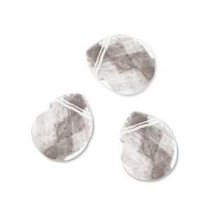 Blue Moon Frosting Glass Beads Mcc Briollete Crystal 12x14mm 10/Pkg