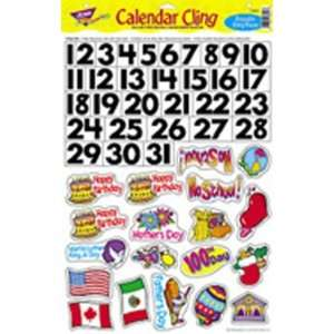 BB SET MONTHLY CALENDAR CLING PIECES Toys & Games