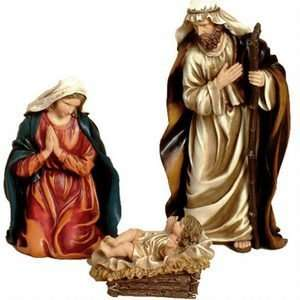 11 Full Color Classic Holy Family Nativity Statue Set
