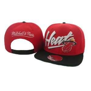 NBA Miami Heat Mitchell Ness Snapback Red Hat  Sports