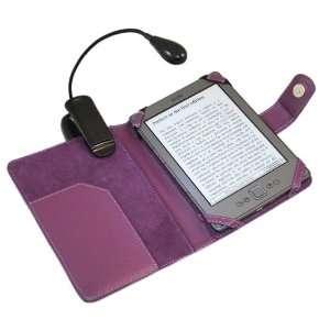 PURPLE Executive BOOK Wallet Case Cover Shield Slot with Flexible Neck