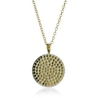 Anna Beck Designs Bali 18k Gold Plated Disk Pendant Necklace