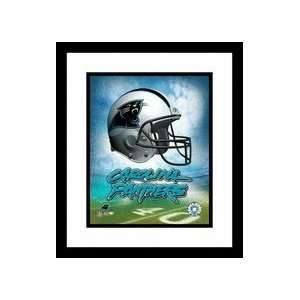 Carolina Panthers NFL Team Logo and Football Helmet Collage Framed 8