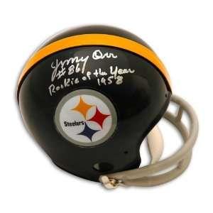 Jimmy Orr Autographed/Hand Signed Pittsburgh Steelers Mini Helmet