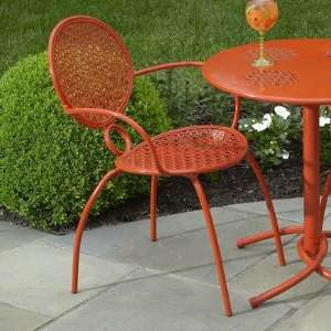 Margarita Bistro Chair Set of 2 in Blood Orange Patio