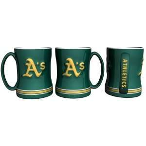 Oakland Athletics Sculpted Coffee Mug Sports & Outdoors