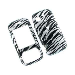Plastic Design Phone Case Cover Silver and Hot Pink Zebra For Pantech