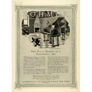 Ad Sohmer Florentine Model Grand Upright Pianos   Original Print Ad