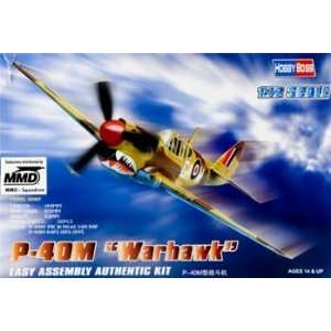 72 Easy Build P 40M Warhawk (Plastic Model Airplane) Toys & Games