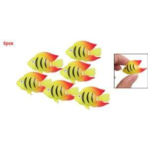 Como 6pcs Plastic Fish Ornament Decoration for Tank