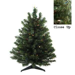 3 Pre Lit Natural Two Tone Pine Artificial Christmas Tree