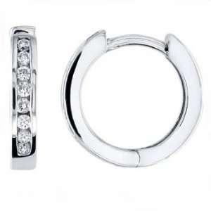 0.20CT Princess Cut Diamond Hoop Earring 14k Gold Jewelry