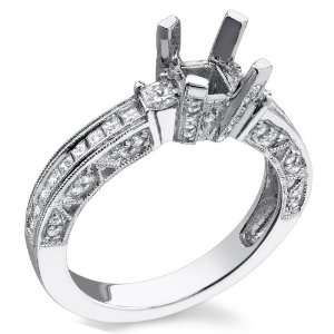 18K White Gold 1.14cttw Channel Set Princess Cut Diamond Ring Jewelry