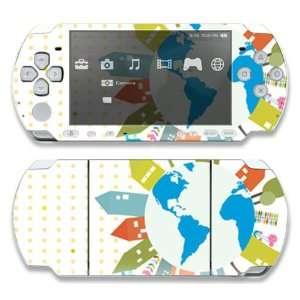 Sony PSP Slim 3000 Decal Skin   World Peace Love