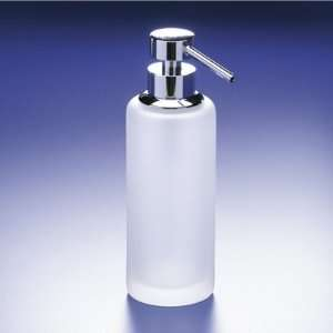 Tall Frosted Crystal Glass Soap Dispenser 90414M Home & Kitchen