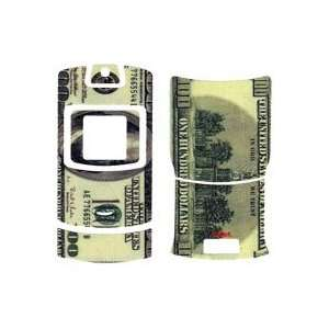 100 Money Stick on Cell Phone Backplate Decal Cover for Motorola RAZR