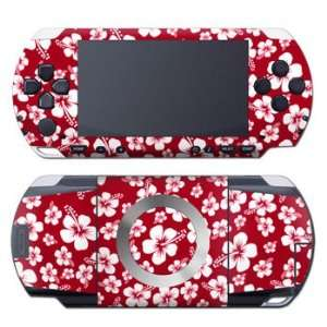 Aloha Red Design Decorative Protector Skin Decal Sticker for Sony PSP