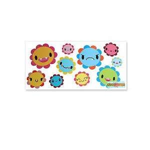 Angry Flowers 11.75 x 24 inch Removable Wall Decal Toys & Games
