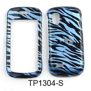 Samsung Solstice A887 Transparent Design, Blue Zebra Print Hard Case