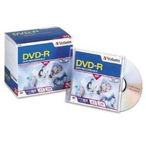 com Verbatim DVD R Discs 4.7GB 16x With Slim Jewel Cases Matte Silver