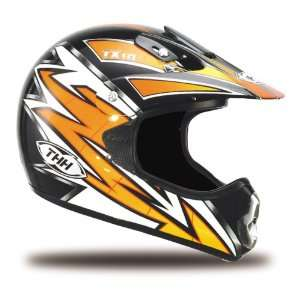 JOLT TX 10 Full Face Motorcycle Helmet, Black/Orange, MD