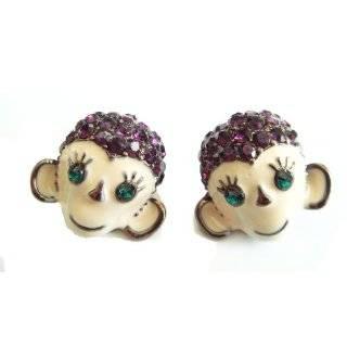 Betsey Johnson Glitter Lips Stud Earrings Jewelry