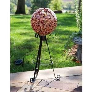 Gazing Ball Stand, Solar Patio, Lawn & Garden
