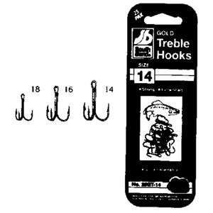 South Bend Fishing Lures Gold Treble Hooks (25 Pack) Size 14