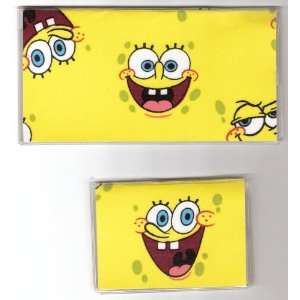 Checkbook Cover Debit Set Made with Spongebob Squarepants Faces Fabric