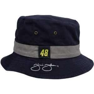 Navy Blue Gray Black Angler Reversible Bucket Hat