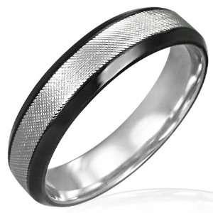 Mission Diamond Cut Stainless Steel Black Bevelled Edge