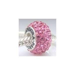 Solid Sterling Silver & Swarovski Crystal HOT PINK Pandora