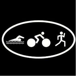 New Triathlon Logo Decal Sticker Swim Bike Run Cycling