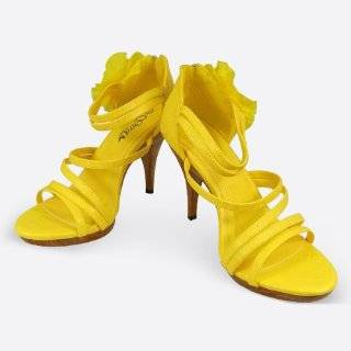 Sandals Lemon Shoes Michael Kors Polly Leather Sandals Lemon Shoes