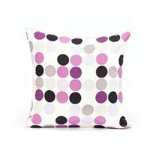 & Lavender Polka Dot Throw Pillow Cover