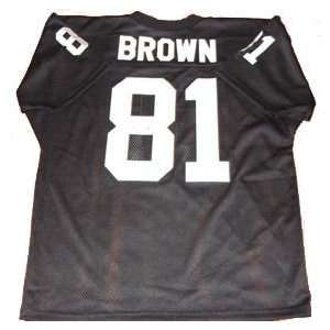 Tim Brown Autographed Oakland Raiders NFL Jersey Sports