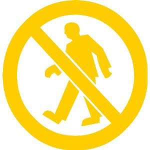 No Walking Sign Removable Wall Sticker